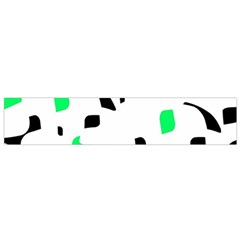 Green, black and white pattern Flano Scarf (Small)