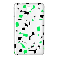 Green, black and white pattern Samsung Galaxy Tab 4 (7 ) Hardshell Case