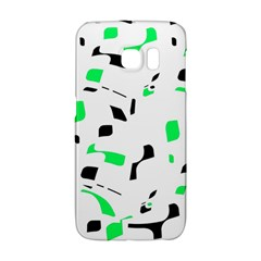 Green, black and white pattern Galaxy S6 Edge