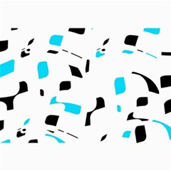Blue, black and white pattern Collage Prints