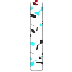 Blue, black and white pattern Large Book Marks
