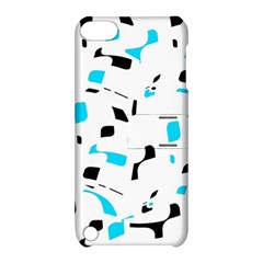 Blue, black and white pattern Apple iPod Touch 5 Hardshell Case with Stand