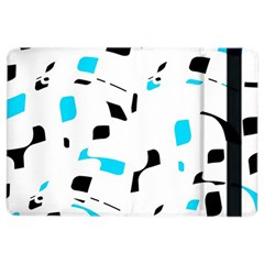 Blue, black and white pattern iPad Air 2 Flip