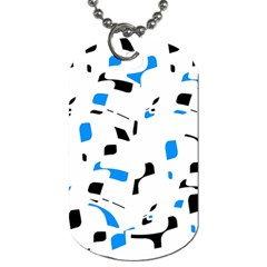 Blue, black and white pattern Dog Tag (Two Sides)