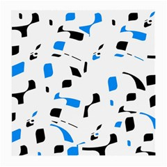 Blue, black and white pattern Medium Glasses Cloth (2-Side)