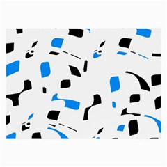 Blue, black and white pattern Large Glasses Cloth
