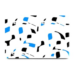 Blue, black and white pattern Plate Mats