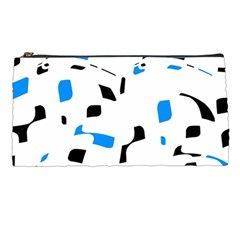 Blue, black and white pattern Pencil Cases