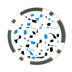 Blue, black and white pattern Poker Chip Card Guards (10 pack)