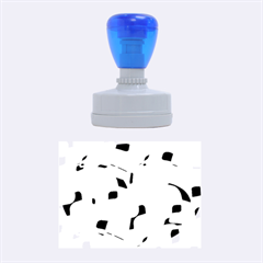Blue, black and white pattern Rubber Oval Stamps