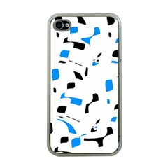 Blue, black and white pattern Apple iPhone 4 Case (Clear)