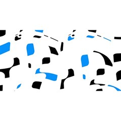 Blue, black and white pattern YOU ARE INVITED 3D Greeting Card (8x4)