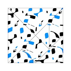 Blue, black and white pattern Acrylic Tangram Puzzle (6  x 6 )