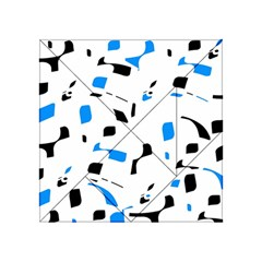 Blue, black and white pattern Acrylic Tangram Puzzle (4  x 4 )