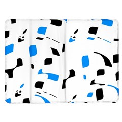Blue, black and white pattern Kindle Fire (1st Gen) Flip Case