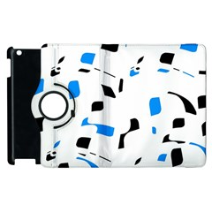 Blue, black and white pattern Apple iPad 3/4 Flip 360 Case