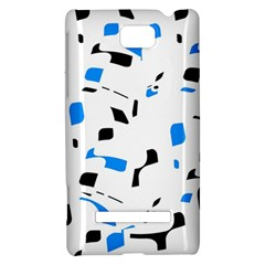 Blue, black and white pattern HTC 8S Hardshell Case