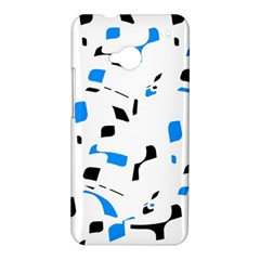 Blue, black and white pattern HTC One M7 Hardshell Case