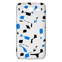 Blue, black and white pattern Samsung Galaxy Mega 5.8 I9152 Hardshell Case