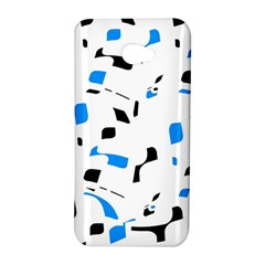 Blue, black and white pattern HTC Butterfly S/HTC 9060 Hardshell Case