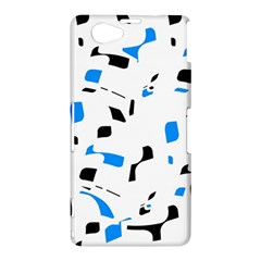 Blue, black and white pattern Sony Xperia Z1 Compact