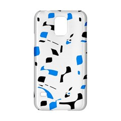 Blue, black and white pattern Samsung Galaxy S5 Hardshell Case