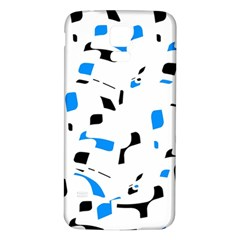 Blue, black and white pattern Samsung Galaxy S5 Back Case (White)