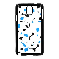 Blue, black and white pattern Samsung Galaxy Note 3 Neo Hardshell Case (Black)