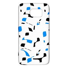 Blue, Black And White Pattern Galaxy S6