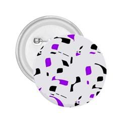 Purple, black and white pattern 2.25  Buttons