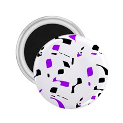 Purple, black and white pattern 2.25  Magnets