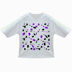 Purple, black and white pattern Infant/Toddler T-Shirts