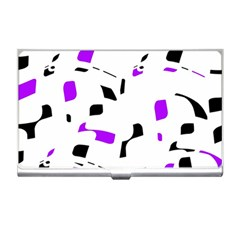 Purple, black and white pattern Business Card Holders