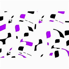 Purple, black and white pattern Collage Prints