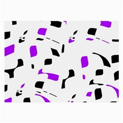 Purple, black and white pattern Large Glasses Cloth (2-Side)