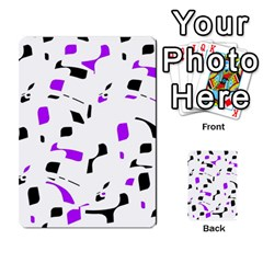 Purple, black and white pattern Multi-purpose Cards (Rectangle)