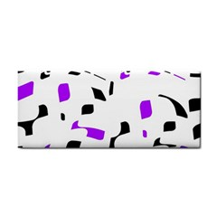 Purple, black and white pattern Hand Towel
