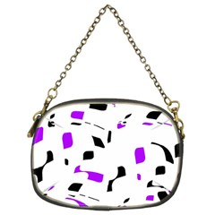 Purple, black and white pattern Chain Purses (Two Sides)