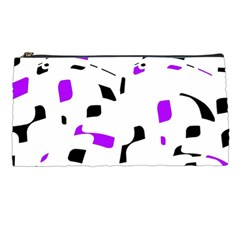 Purple, black and white pattern Pencil Cases