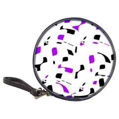 Purple, black and white pattern Classic 20-CD Wallets