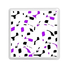 Purple, black and white pattern Memory Card Reader (Square)