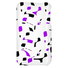 Purple, black and white pattern Apple iPhone 3G/3GS Hardshell Case