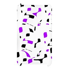 Purple, black and white pattern Apple iPod Touch 4
