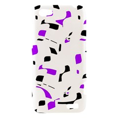Purple, black and white pattern HTC One V Hardshell Case