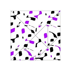 Purple, black and white pattern Acrylic Tangram Puzzle (4  x 4 )