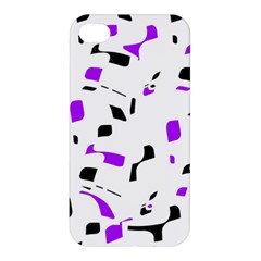 Purple, black and white pattern Apple iPhone 4/4S Premium Hardshell Case