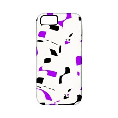 Purple, black and white pattern Apple iPhone 5 Classic Hardshell Case (PC+Silicone)