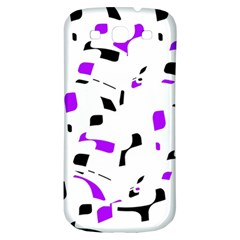 Purple, black and white pattern Samsung Galaxy S3 S III Classic Hardshell Back Case