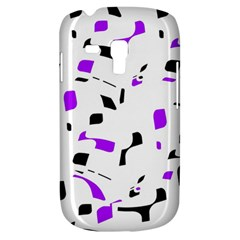 Purple, black and white pattern Samsung Galaxy S3 MINI I8190 Hardshell Case