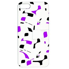 Purple, black and white pattern Apple iPhone 5 Hardshell Case with Stand